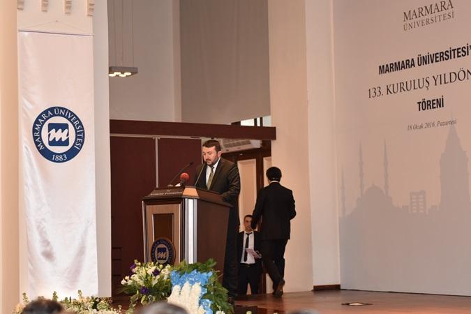 Marmara Üniversitesi'nin 133. Yıldönümü Töreni'nde MÜMDER Adına Konuşma Yapıldı
