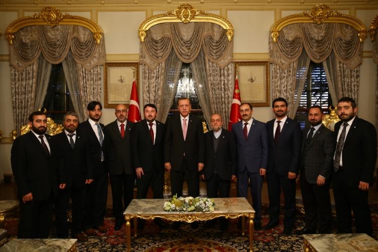 Cumhurbaşkanı ERDOĞAN MÜMDER' i Kabul Etti.