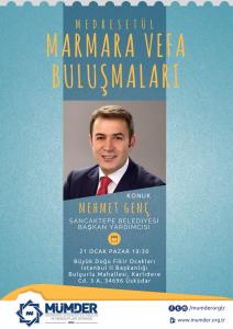 Medresetül Marmara Vefa Buluşmaları: Mehmet Genç @ Büyük Doğu Fikir Ocakları İstanbul İl Başkanlığında
